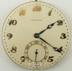 Longines 17.89 M Complete Running Pocket Watch Movement Parts / Repair