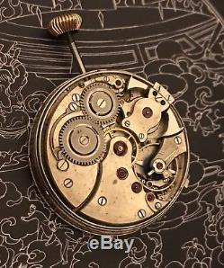 Longines one minute repeater pocket watch movement unusual SUPER RARE! RUN