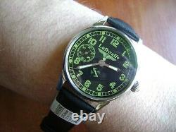 Luftwaffe Military wristwatch converted from pocket watch movement 15 jew