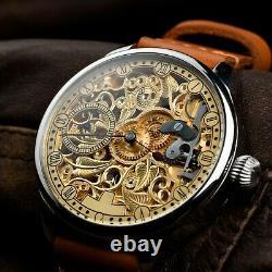 Luxury Best Brand Skeleton Watch Pocket Mechanical Swiss Movement Vintage Watch