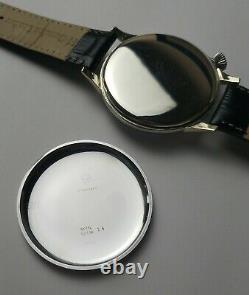 Luxury Vintage Wristwatch Men's Gift, Porcelain Dial with Tissot pocket movement
