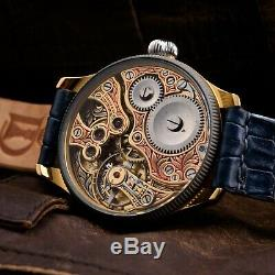 Luxury watch Tiffany & Co, pocket mechanism, swiss movement, vintage, crocodile skin