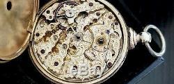 M. J. Tobias Fancy Engraved Movement Pocket Watch. 13J OF KW KS, 52mm, Ca. 1850's