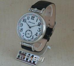 MOLNIJA MOVEMENT 3602 CONVERTED from VINTAGE POCKET WATCH to MEN'S WRIST WATCH
