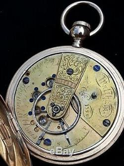 MOVEMENT ONLY #1585 Dennison Howard Davis waltham early keywind pocket watch