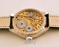 Marriage Skeleton Eagle & Snake HAND ENGRAVED Rolex movement Pocket Watch 1920