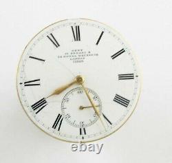 Mint Nicole Nielsen Dent Keyless Patent Pocket Watch Movement 1870