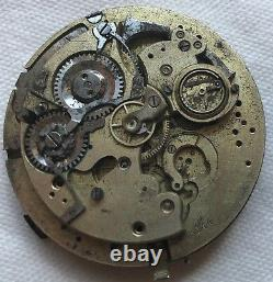 Minute Repeater Pocket Watch movement some parts missing 47,5 mm. In diameter