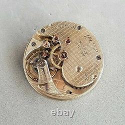 Mnign & fils 1880s antique pocket watch movement high grade rare caliber 20s