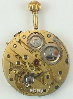 Monopol High Grade Swiss Complete Running Pocket Watch Movement Parts Repair