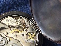 Montre Gousset Sonnerie Scarce Swiss Reapeter Pocket Watch Movement Anchor 1900