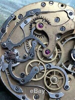 Mouvement Chronographe De Poche LIP 1910 French Pocket Watch Movement Taschéuhr