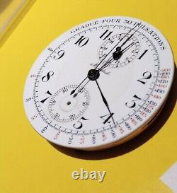 Movement CHRONOGRAP Pocket Watch Excellent Working