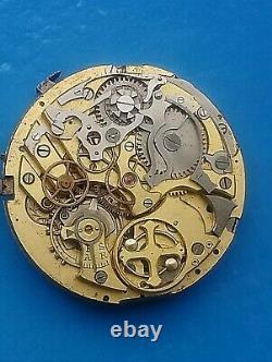 Movement for pocket watch, Quarter Repeater Chronograph. Original piece Swiss made