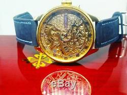 MwM full skeleton watch, based on patek philippe pocket watch movement