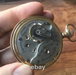Nice Illinois Bunn Special 24 Jewel Size 18 Pocket Watch Beautiful Movement Runs