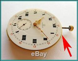 OMEGA Pocket Watch Movement Cal. 18LPB WORKING Unusual Condition LOOK