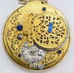 Oignon Pocket watch Circa 1710 Andreas Heilmann with Verge Chain Driven Movement