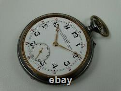 Old Longines Open Face Pocket Watch Cal 18.49 High Grade Movement