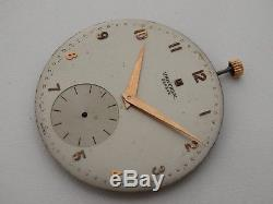 Old Universal Geneve Ultra Slim High Grade Pocket Watch Movement 268 Sold As Is