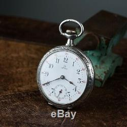 Old pocket watch Omega antiques watches wiss exclusive movement enamel lux dial