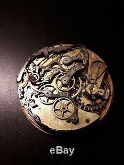 Omega 19''' Rare Chronograph Calendar Pocket Watch movement