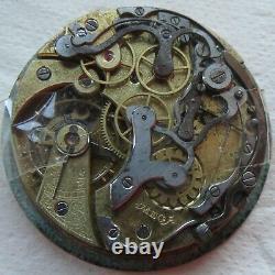Omega Chronograph Pocket Watch movement & enamel dial 43 mm in diameter