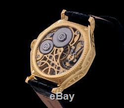 Omega Men's Exclusive Skeleton High Quality Pocket Watch Movement 1901