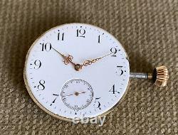 Omega Savonette Taschenuhrwerk Qualität 1 Kaliber 19'''HN 46 mm ca. 1900