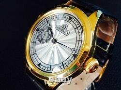 Omega antique wristwatch hand-wound back skeleton vintage pocket movement g95