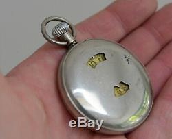 Original Jump Hour Pocket Watch Rocar Tortoise Swiss Movement. Nice strong tick