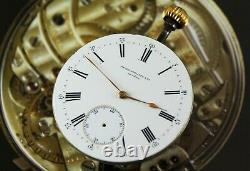 Original PATEK PHILIPPE Pocket Watch Movement & Porcelain Dial. Working! Ca 1895