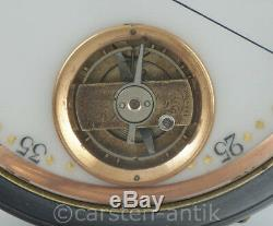 Oversized Swiss pocket watch with 8-day movement 3In. 11Oz. Visible balance 1900
