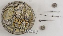 PATEK PHILIPPE Antique Pocket Watch REPEATER MOVEMENT w DIAL #90433