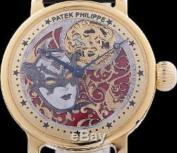 PATEK PHILIPPE & Cie SKELETON VENETIAN MASK ENGRAVED SWISS POCKET WATCH MOVEMENT
