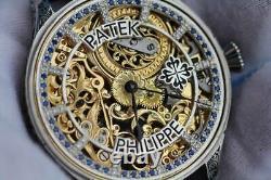 PATEK PHILIPPE & Co GENEVE Gondolo MEN'S SKELETON POCKET WATCH MOVEMENT