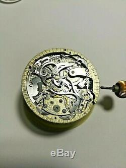 POCKET WATCH MINUTE REPEATER MOVEMENT WORKING DIAMETER 45mm. SEE VIDEO LINK