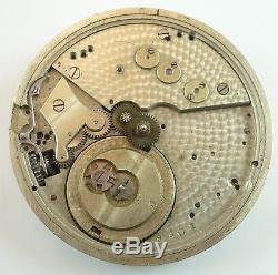 Partial High-Grade Swiss Pocket Watch Movement Hunting Configuration