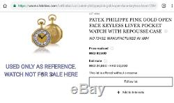 Patek Philippe 1880s small pocket watch movement w original cartouches dial 30mm