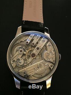 Patek Philippe Pocket Watch Movement In Handmade Wristwatch