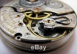 Pocket Watch Movement 16s hamilton 996 19 jewels 5 adj. Motor Barrel. OF
