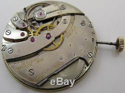 Pocket watch movement Ed. Koehn Geneva 19 jewels 7 adjustments diameter 39.3 mm