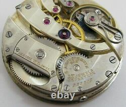Quality Agassiz Pocket Watch Movement for parts. HC 43 mm fit Open Face