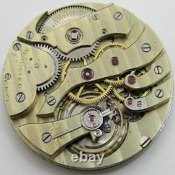 Quality Agassiz Pocket Watch Movement for parts. OF 41.4 mm fit Open Face case