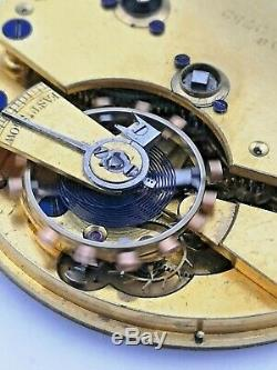 Quality English Fusee Up/Down Antique Pocket Watch Movement Working (R83)