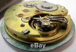 Quality Pocket Watch Movement 17 jewels for parts. HC