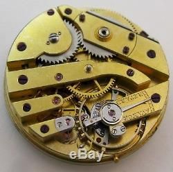 Quality Pocket Watch Movement. Wolf tooth ratchet wheel. HC