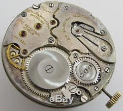 Quality Rolex 800 flat Pocket Watch Movement for J. Jurgensen Corp. OF