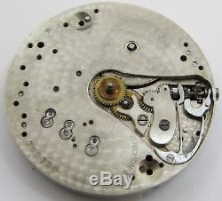 Quality Touchon Pocket Watch Movement for parts. OF 38.5 mm J C Grogan PA