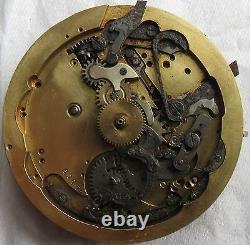 Quarter Repeater Pocket Watch movement 50 mm. In diameter balance broken
